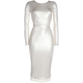 《セール開催中》ELISABETTA FRANCHI レディース 7分丈ワンピース・ドレス ベージュ 42 レーヨン 100%