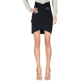 《期間限定セール開催中!》BLUMARINE レディース ひざ丈スカート ブラック 40 コットン 69% / 麻 30% / ポリウレタン 1%