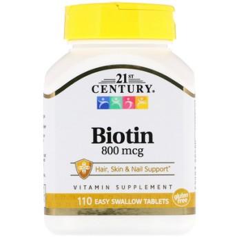 ビオチン、800 mcg、簡単に飲める錠剤110錠