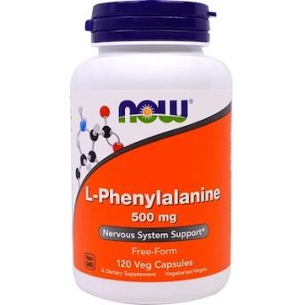 L-フェニルアラニン、 500 mg、 120植物性カプセル