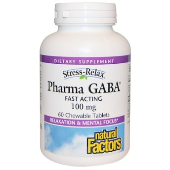 ストレスを和らげる、ファーマギャバ(Pharma GABA)、60 チュアブル(噛める)タブレット