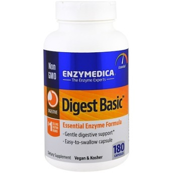 Enzymedica, 消化の基本(Digest Basic), 必須酵素フォーミュラ, 180カプセル
