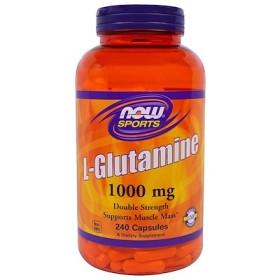 スポーツ、 L-グルタミン、 1000 mg、 240カプセル
