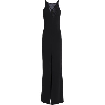 《セール開催中》HALSTON レディース ロングワンピース&ドレス ブラック 8 ポリエステル 95% / ポリウレタン 5%