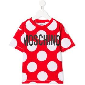 Moschino Kids ドット ロゴ Tシャツ - レッド