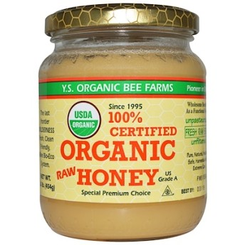 100% Certified Organic Raw Honey, 1.0 lbs (454 g)