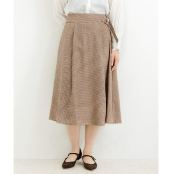 NIMES / ニーム T/Rストレッチラップ風スカート