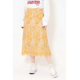 [マルイ]【セール】配色カラーレーススカート/ローズバッド(ROSE BUD)