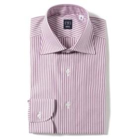 BEAMS F / ピンオックスフォード キャンディストライプ ワイドカラーシャツ メンズ ドレスシャツ PURPLE/12 38