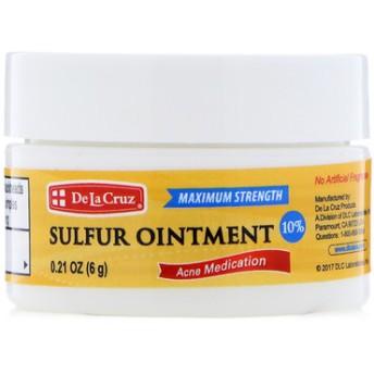 硫黄軟膏、にきび薬、マキシマムストレングス、0.21 oz (6 g)