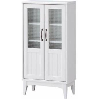白井産業 RTA-1155G レトロモダンの甘さを抑えた白い家具 キャビネット Retroa レトロア (RTA1155G)