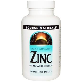 亜鉛, 50 mg, 250錠