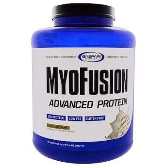 MyoFusion、アドバンスドプロテイン、バニラアイスクリーム、4ポンド(1814 g)