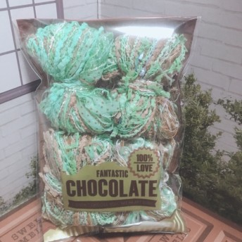 引き揃え糸ミニリボンセット☆チョコミントなミニリボン