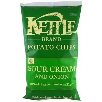 ポテトチップス、サワークリーム&オニオン、5 oz (142 g)