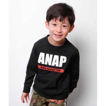 【セール開催中】ANAP KIDS(キッズ)ロゴプリントトレーナー