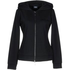 《期間限定 セール開催中》ARMANI JEANS レディース スウェットシャツ ブラック 38 コットン 60% / ポリエステル 40%
