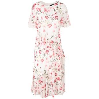 《セール開催中》LAUREN RALPH LAUREN レディース ひざ丈ワンピース ホワイト 6 ポリエステル 100% Floral chiffon Day Dress