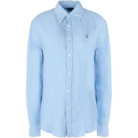 《セール開催中》POLO RALPH LAUREN レディース シャツ スカイブルー XS 麻 100% Relaxed fit Linen Shirt