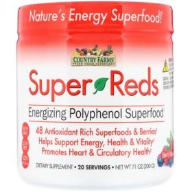 スーパーレッズ、栄養豊富ポリフェノールスーパーフード、ベリーフレーバー、7.1 oz (200 g)