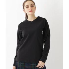 ベースステーション 長袖 Tシャツ Vネック WEB限定 11251 レディース ブラック(019) 01(S) 【BASE STATION】