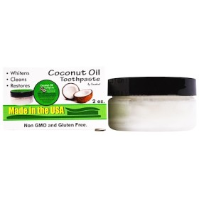Coconut Oil Toothpaste, with Baking Soda & Spearmint Oil, 2 oz