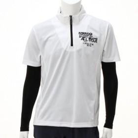 ジャージ スポーツウェア メンズ メンズ 半袖ジップTシャツ&コンプレッションセット 「オフホワイト」