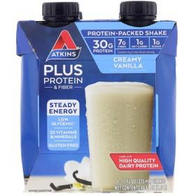 Plus Protein & Fiber, Creamy Vanilla, 4 Shakes, 11 fl oz (325 ml) Each