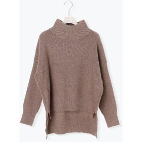 ニット・セーター - Melan Cleuge ワッフル編みタートルネックプルオーバー