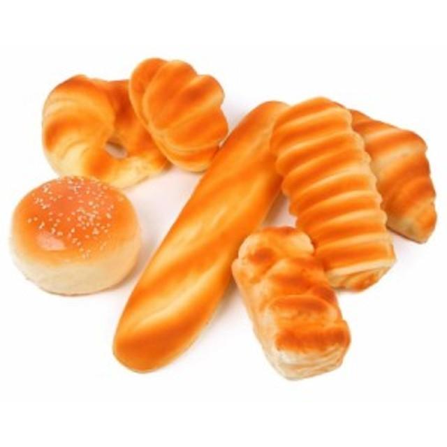 【送料無料!】パン 食品サンプル 7個 セット スクイーズ お店 ディスプレイ インテリア おままごと インスタ用 背景 部屋 装飾 飾り