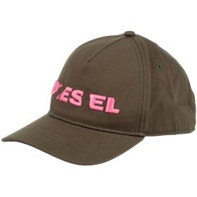 《期間限定 セール開催中》DIESEL メンズ 帽子 ミリタリーグリーン I コットン 100%