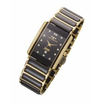 【メーカー正規品】TECHNOS テクノス メンズ 腕時計 男性用 メンズ 3針 クォーツ T9557GB ゴールド 【激安】 【SALE】
