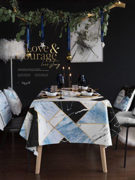 時尚可愛空間餐桌布 茶几布 隔熱墊 鍋墊 杯墊 餐桌巾622  (110*110cm)