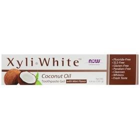 ソリューション、キシホワイト、歯磨き粉ジェル、ココナッツオイル、ミント味、6.4 oz (181 g)