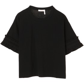 See By Chloe フリルスリーブカットソー Tシャツ・カットソー,ブラック