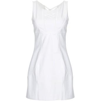 《セール開催中》ERMANNO DI ERMANNO SCERVINO レディース ミニワンピース&ドレス ホワイト 42 コットン 95% / ポリウレタン 5%