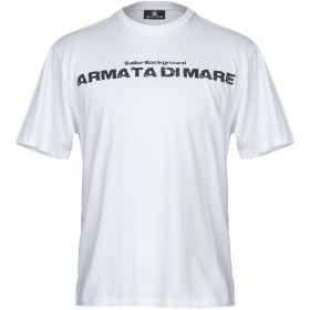 《期間限定 セール開催中》ARMATA DI MARE メンズ T シャツ ホワイト S コットン 100%