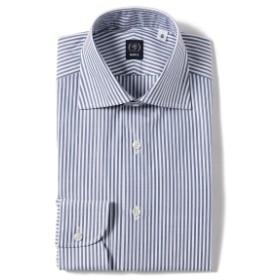 BEAMS F / ピンオックスフォード キャンディストライプ ワイドカラーシャツ メンズ ドレスシャツ BLUE/11 41