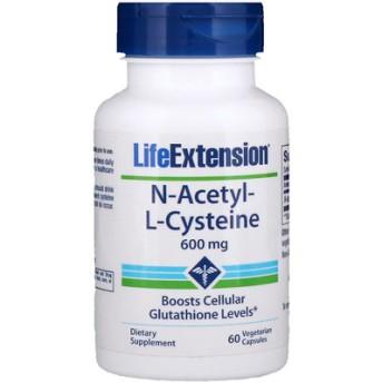 N-アセチル-L-システイン、600mg、ベジタリアンカプセル60錠