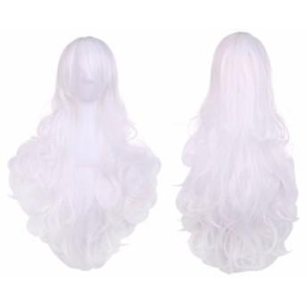 ウィッグ セット ハロウィン 仮装 ロング カール ウェーブ巻き髪 フル レディース ウイッグ コスプレ アニメ スノーホワイト