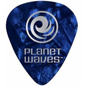 PLANETWAVE  【25個セット】ピック 1CBUP4-25 Celluloid Blue Pearl 0.70mm スタンダード型 25枚入り