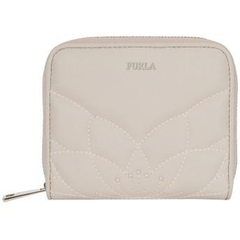 《期間限定セール開催中!》FURLA レディース 財布 ライトグレー 革 100% MALVA S ZIP AROUND