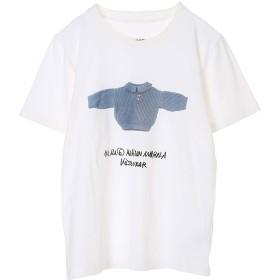 MM6 Maison Margiela 【ウォッシャブル】キッズプリントTシャツ Tシャツ・カットソー,ホワイト