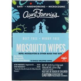 蚊対策ウェットティッシュ、10枚、1枚ごとに3.5g(0.125 fl oz
