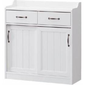 白井産業 RTA-9085SDH レトロモダンの甘さを抑えた白い家具 カウンター下収納 Retroa レトロア (RTA9085SDH)