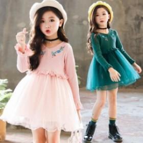 2019 キッズワンピース 子供服 ドレス 結婚式 入学式 卒業式 発表会 ワンピース 新品