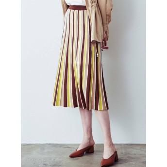 [COTORICA WOMEN]配色プリーツスカート
