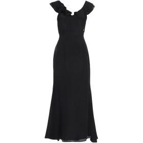 《セール開催中》KORALLINE レディース ロングワンピース&ドレス ブラック 42 シルク 100%