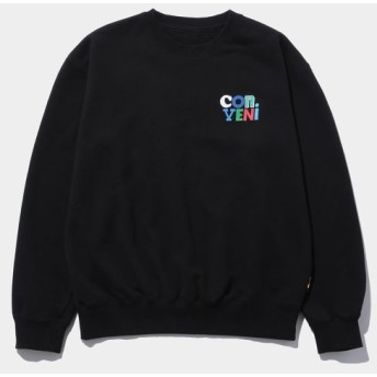 ザ・コンビニ/CON/VENI SIGN CREWNECK SWEAT/ブラック/L
