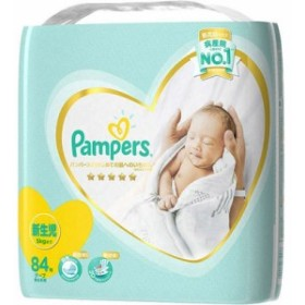 P&G(プロクター・アンド・ギャンブル)  パンパース おむつ はじめての肌へのいちばん テープ ウルトラジャンボ 新生児 84枚入